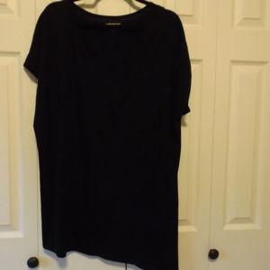 Black V neck tunic